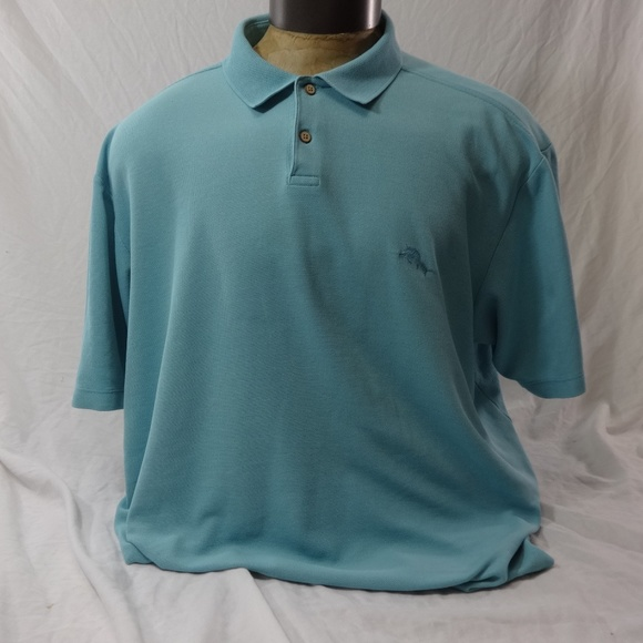 a76b5bb4 Tommy Bahama Shirts | Mens Aqua Blue Polo Shirt Xxl | Poshmark